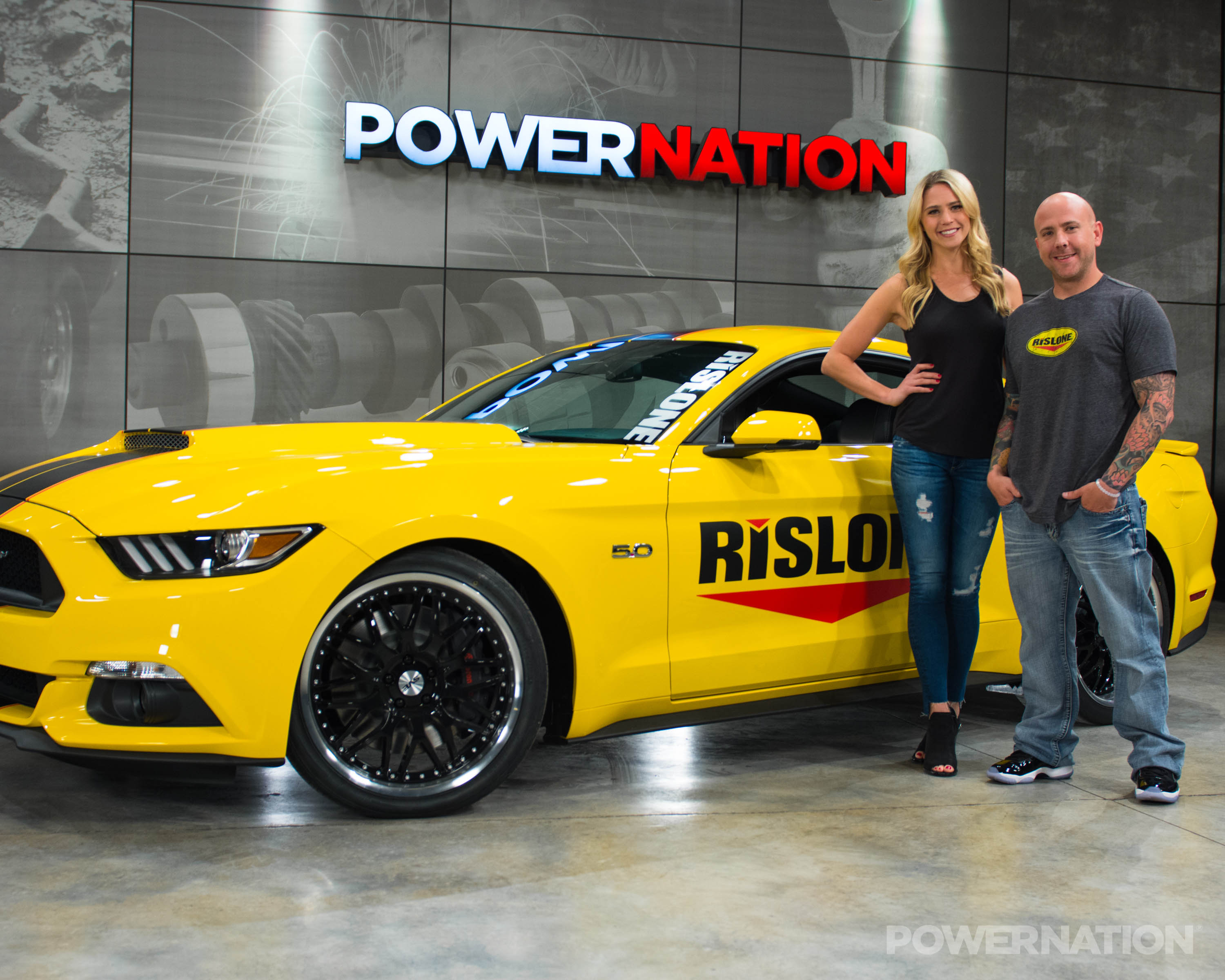 Rislone Mustang with Katie and Bobby