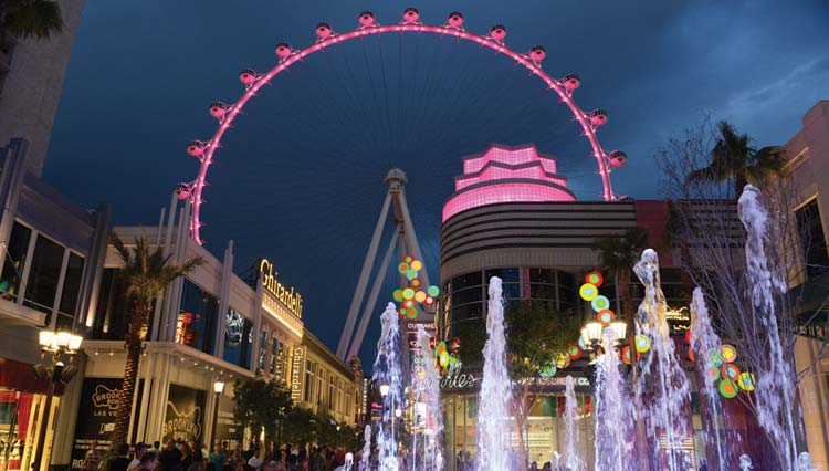 Linq with High Roller Las Vegas