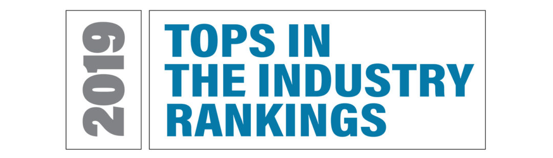 2019 TOPS in the Industry Rankings