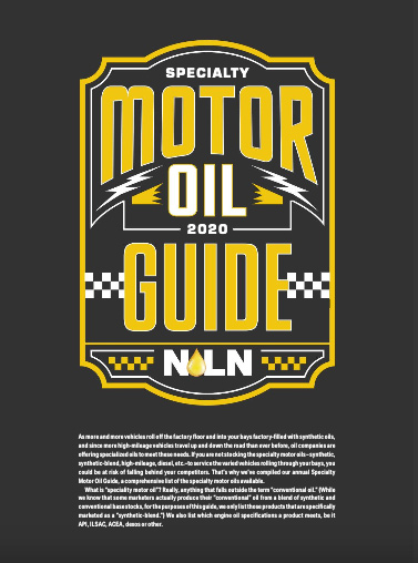 2020 Specialty Motor Oil Guide cover